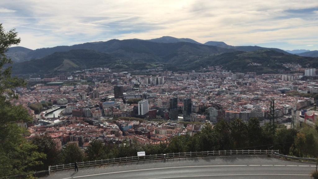Uitzicht op Bilbao